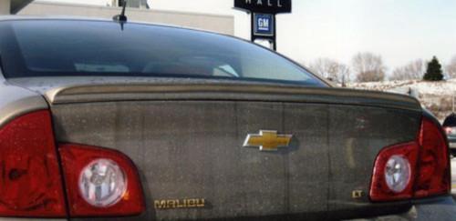 Chevrolet Malibu 2008-2012 Custom Lip No Light Rear Trunk Spoiler