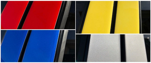 Chevrolet Cobalt Coupe 2005-2010 Painted Pillar Posts Trim 2PCS