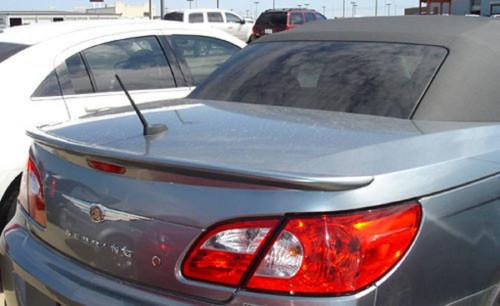Chrysler Sebring Convertible 2008-2010 Custom Lip No Light Rear Trunk Spoiler