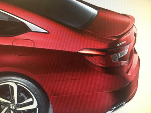 Honda Accord 4DR 2018 Sport Style Lip No Light Rear Trunk Spoiler