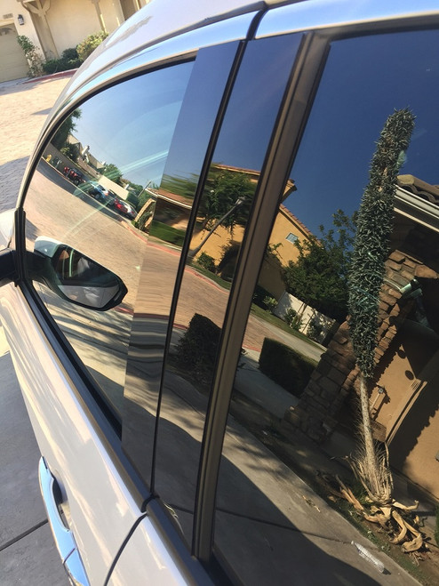 Dodge Grand Caravan 2008-2017 Glossy Black Pillar Posts Trim 4PCS
