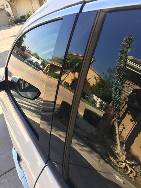 Lincoln Continental 1990-1994 Glossy Black Pillar Posts Trim 10PCS