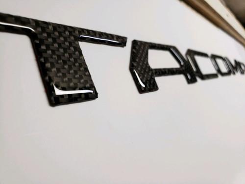 Toyota Tacoma 2016-2019 Real Carbon Fiber Black Tailgate Letters Inserts