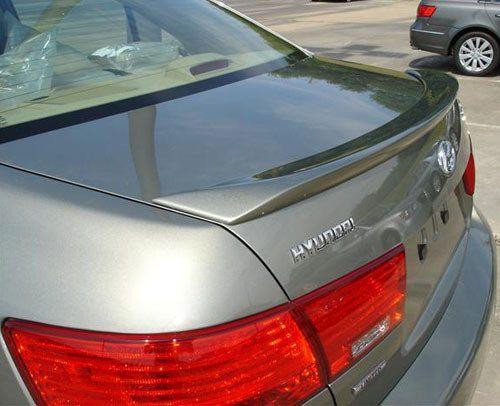 Hyundai Sonata 2007-2010 Custom Lip No Light Rear Trunk Spoiler