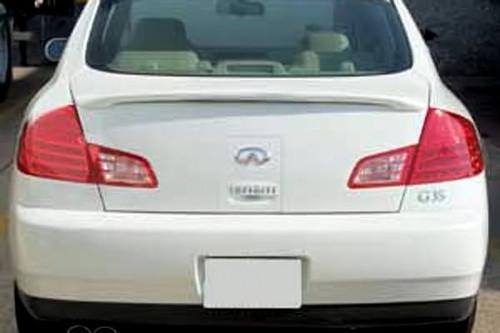 Infiniti G35 Sedan 2003-2006 Custom Lip No Light Rear Trunk Spoiler