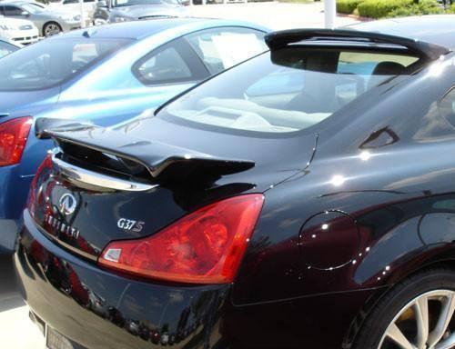 Infiniti G37 Coupe 2008-2013 Custom Post No Light Rear Trunk Spoiler