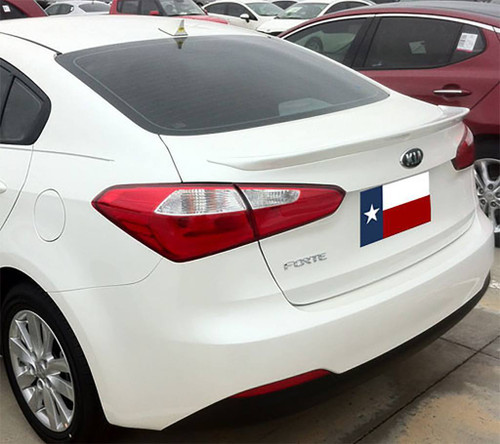 Kia Forte Sedan 2014-2016 Custom Flush No Light Rear Trunk Spoiler