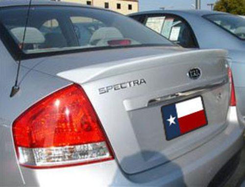 Kia Spectra 2007-2009 Factory Lip No LightRear Trunk Spoiler
