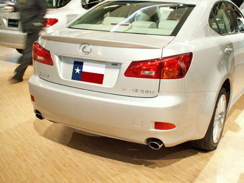 Lexus IS 2006-2013 Factory Lip No Light  Rear Trunk Spoiler