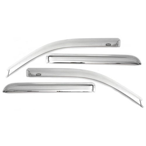 684540 AVS Chrome Tape-On Ventvisor Rain Guards for Jeep Compass 2011-2016