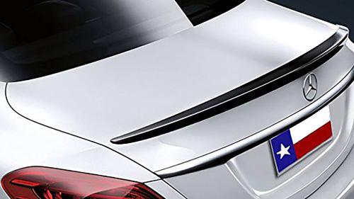 Mercedes C Class 4Dr 2015-2017 Factory Lip No Light Rear Trunk Spoiler