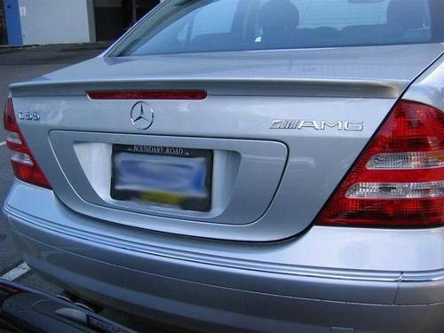 Mercedes C Class 2001-2007 Factory Lip No Light Rear Trunk Spoiler
