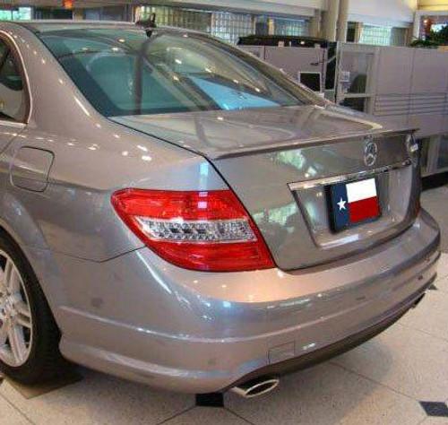 Mercedes C Class Sedan 2008-2014 Factory Lip No Light Rear Trunk Spoiler
