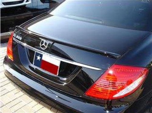 Mercedes CL 2008-2011 Custom Lip No Light Rear Trunk Spoiler
