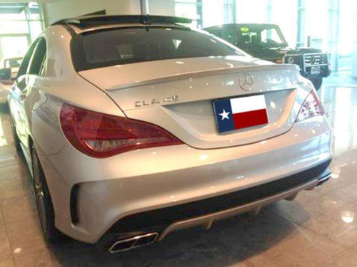Mercedes CLA 2014-2017 Factory Lip No Light Rear Trunk Spoiler