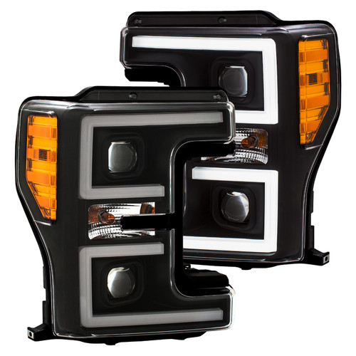 111388 Anzo USA   Projector Black Switchback Headlights for Ford Superduty 2017-2019