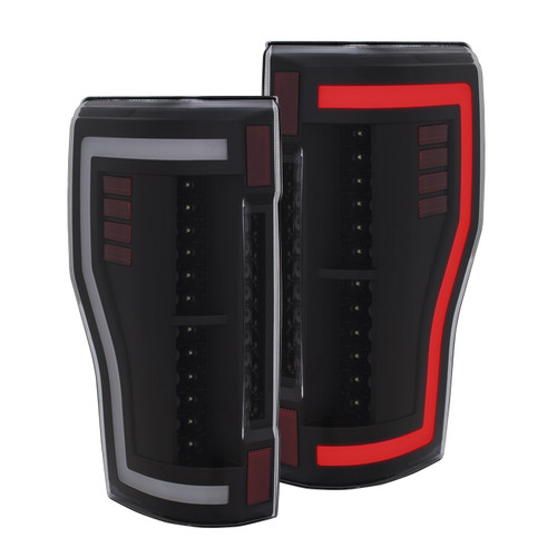 311287 Anzo USA | LED Black Tail Lights for Ford Superduty 2017-2018
