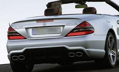 Mercedes SL63 2003-2012 Factory Lip No Light Rear Trunk Spoiler