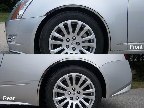 Stainless Steel Chrome Wheel Well Trim 6Pc for Cadillac CTS Coupe WQ50254
