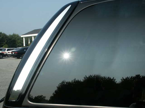 Stainless Steel Chrome Rear Window Trim 2Pc for 2002-2006 Cadillac Escalade RW42255