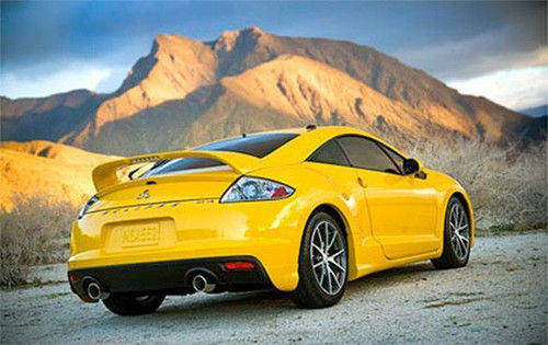 Mitsubishi Eclipse Coupe 2006-2012 Factory Post Lighted Rear Trunk Spoiler