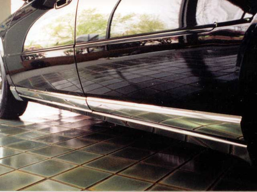 Stainless Steel Chrome Rocker Panel Trim 8Pc for 1998-2004 Cadillac Seville TH38236