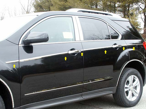 Stainless Steel Chrome Side Accent Trim 12Pc for 2010-2017 Chevy Equinox AT50160