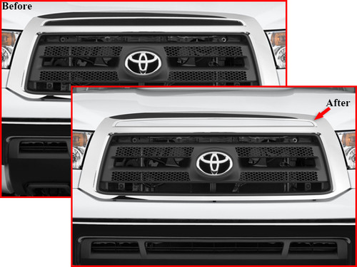Stainless Steel Chrome Grille Accent 1Pc for 2007-2009 Toyota Tundra SG27145