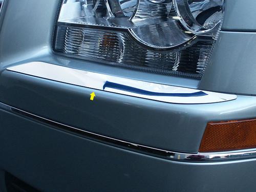 Stainless Steel Chrome Bumper Cap Trim 2Pc for 2005-2009 Chrysler 300 BC45760