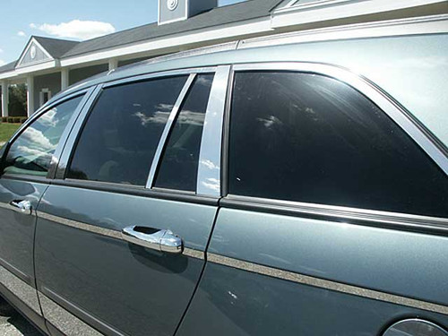 Stainless Steel Chrome Window Trim 14Pc for 2004-2008 Chrysler Pacifica WP44750