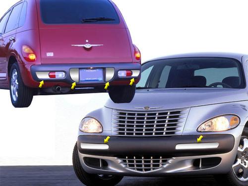 Stainless Steel Chrome Bumper Insert 6Pc for 2001-2005 Chrysler PT Cruiser BK41700-1