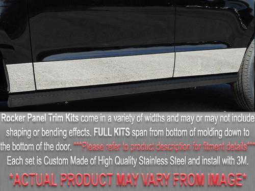 Stainless Steel Chrome Rocker Panel Trim 12Pc for 2002-2008 Dodge Ram TH42936