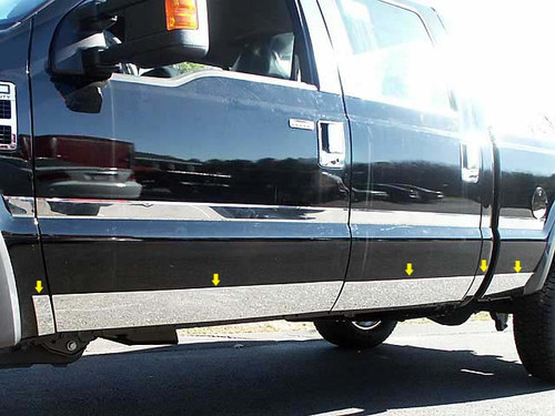 Stainless Steel Chrome Rocker Panel Trim 10Pc for 2008-2010 Ford Super Duty TH48323