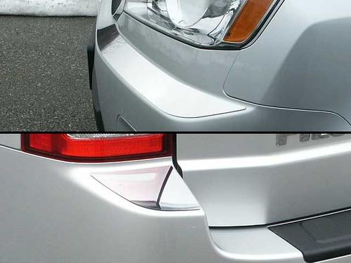 Stainless Steel Chrome Bumper Cap Trim 4Pc for 2009-2011 Honda Pilot BC29260