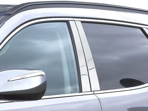 Stainless Steel Chrome Pillar Trim 4Pc for 2013-2018 Hyundai Santa Fe PP13335