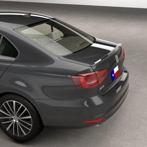 Volkswagen Jetta 2011-2014 Factory Lip No Light Rear Trunk Spoiler