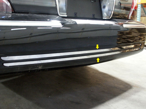 Stainless Steel Chrome Rear Bumper Trim 2Pc for Mercury Grand Marquis RB38480