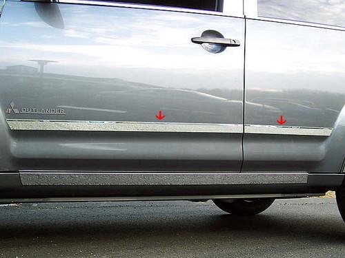 QAA fits 2007-2009 Mitsubishi Outlander 6 Piece Stainless Pillar Post Trim PP27011