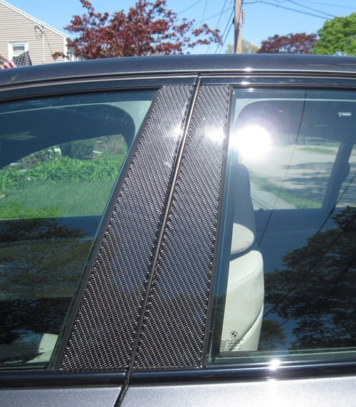 BMW 5 Series 2004-2010 Real Carbon Fiber Pillar Posts Trim 6PCS