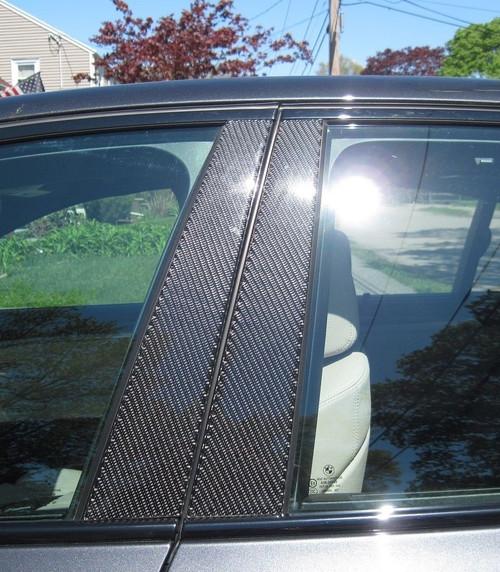 BMW 3 Series Sedan 2006-2011 Real Carbon Fiber Pillar Posts Trim 6PCS