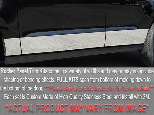 Stainless Steel Chrome Rocker Panel Trim 8Pc for 1996-2000 Plymouth Voyager TH36890