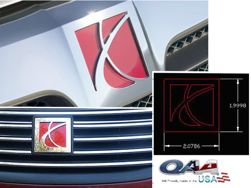 Stainless Steel Chrome Graphic Emblem 2Pc for 2005-2007 Saturn Ion SGR45411