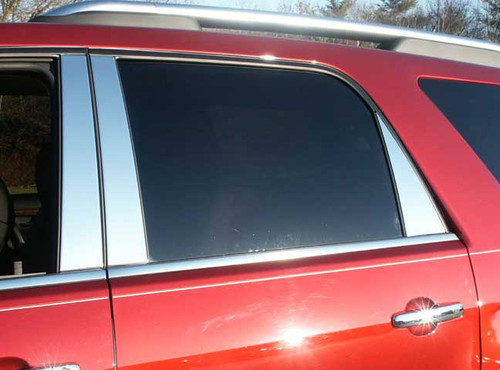 Stainless Steel Chrome Pillar Trim 6Pc for 2007-2009 Saturn Outlook PP47426