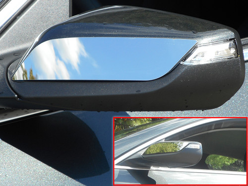 Stainless Steel Chrome Mirror Accent 2Pc for 2016-2020 Chevrolet Malibu MA56105