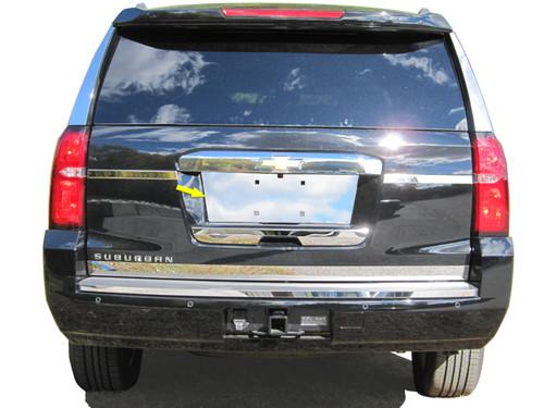 Stainless Steel Chrome License Plate Bezel 1Pc for 2015-2020 Chevrolet Tahoe LP55195