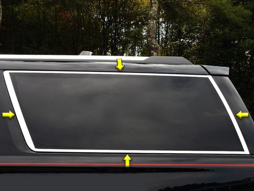 Stainless Steel Chrome Window Trim 8Pc for 2015-2020 GMC Yukon WP55198