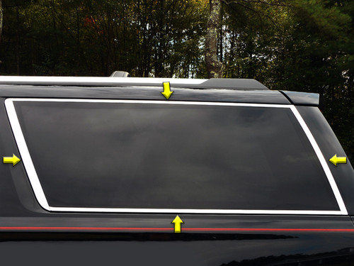 Stainless Steel Chrome Window Trim 8Pc for 2015-2020 Chevy Suburban WP55198