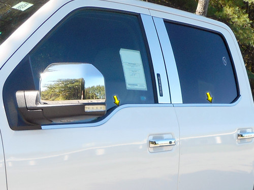 Stainless Steel Chrome Window Sill Trim 4Pc for 2015-2020 Ford F-150 WS55316