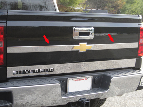 Stainless Steel Chrome Tailgate Accent 2Pc for 2019 Chevrolet Silverado TP54181