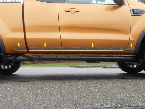 Stainless Steel Chrome Side Accent Trim 8Pc for 2019-2020 Ford Ranger AT59348